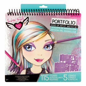 Fashion angels make-up hair design sketch portfolio for girls