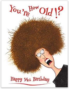 Happy 14th birthday book for kids