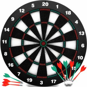 This is an image of a dart board game set.
