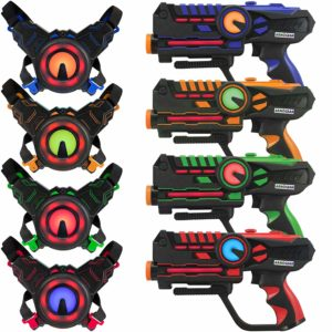 Infrared laser tag blasters and vests for kids