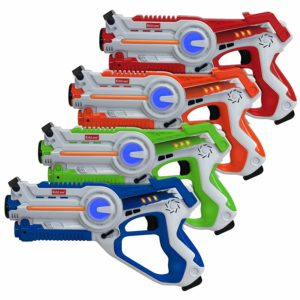 Set of 4 Players Infrared Laser Gun Indoor and had different colors