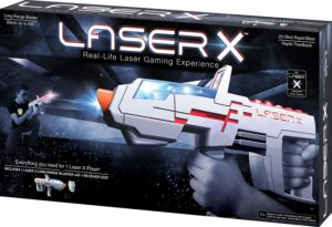 This is an image of a white laser blaster.