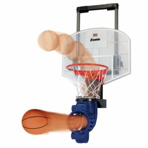 Mini basketball hoop with rebouner and automatic ball return for kids outdoor