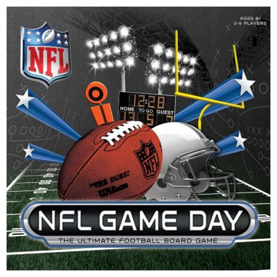 This is an image of a football game day board game.