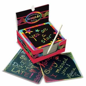 Scratch Art Rainbow mini notes with multiple rainbow colors
