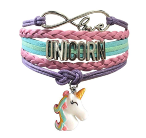 unicorn stacked bracelet wristband set
