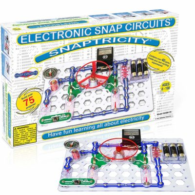 Snap circuits snaptricity electronics exploration kit and u can build over 75 projects