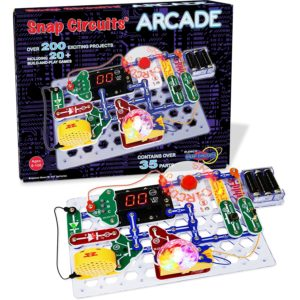 four colors manual and 20 build and play games arcade electronic exploration kit