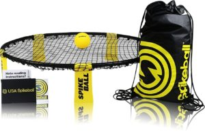 This is an image of a Spikeball game set.