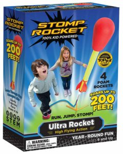 Stomp Rocket designed for outdoor games for kids had 4 rockets