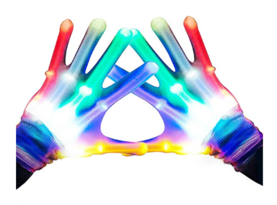 This is a image of a multi color flashing gloves.