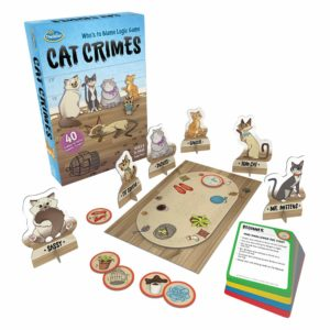 Thinkfun Cat Crimes Logic game And brainteaser for kids