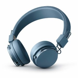 This is an image of an indigo bluetooth headphones.