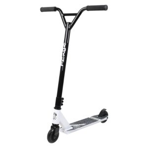 black and white stunt scooter