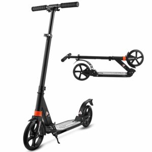 large scooter with easy folding technology