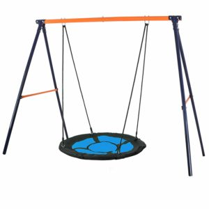 a-frame with spider web swing