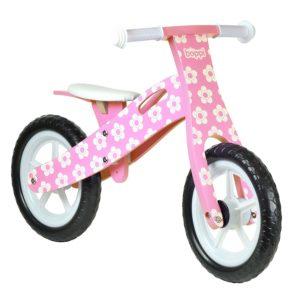 wooden balance bike pink