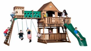 wooden adventure playground set