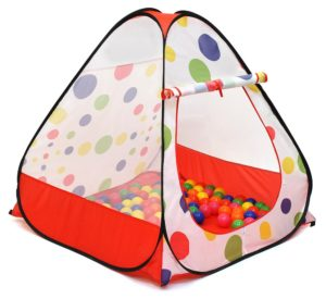 this is an image of a spotty ball pit tent