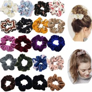 this is an image of teen hair scrunchies