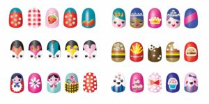 this is an image of nail art stickers for teens