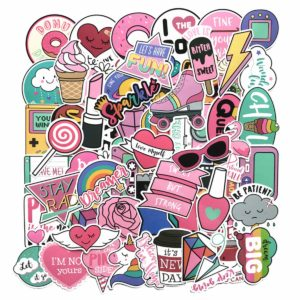 this is an image of stickers for teen girls laptops