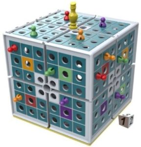 This is an image of a squashed strategy board game.
