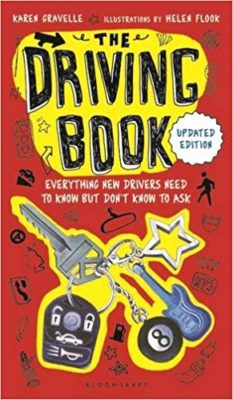 "This is an image of a teen's book entitled "" The Driving Book."""