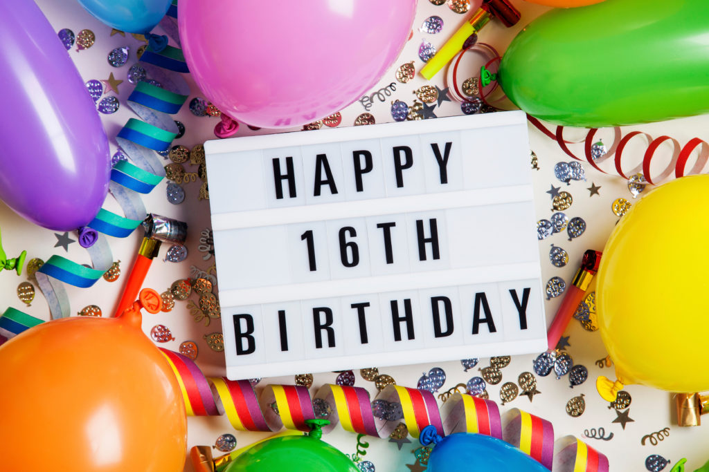 this is an image of a happy 16th birthday sign