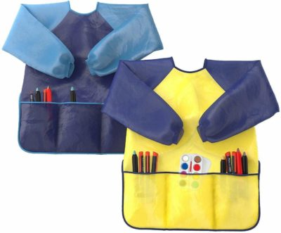 This is an image of a 2 pack kids art smocks.
