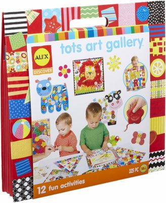 This is an image of a Tots Art Gallery with 12 activities by ALEX Discover.