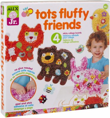 This is an image of an animal activity collage board for kids.
