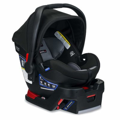 This is an image of a black infant car seat by Britax.