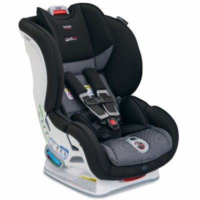 This is an image of a black Marathon Click Verve car seat by Britax.