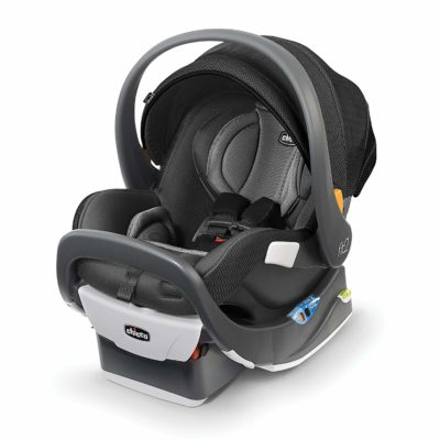 This is an image of a black Tempo Fit2 car seat by Chicco.