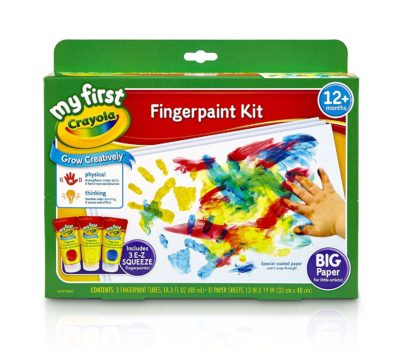 This is an image of a washable fingerpaint kit by Crayola.