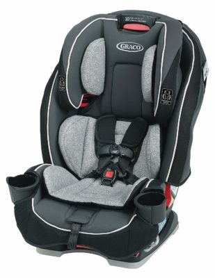 This is an image of a black Darcie convertible car seat.