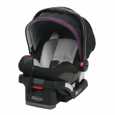 This an image of a black Jodie SnugRide SnugLock car seat by Graco.