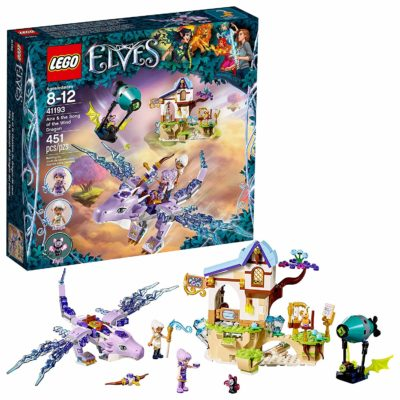 This is an image of a Elves Aira and The Song of The Wind Dragon building kit by LEGO.