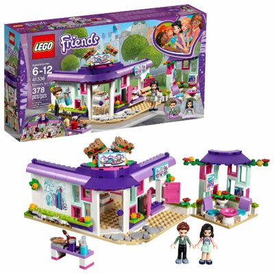 This is an image of a Friends Emma's Art Café building set by LEGO.