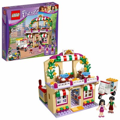 This is an image of a Friends Pizzeria building kit by LEGO.