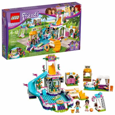 This is an image of a Friends Heartlake Summer Pool building kit by LEGO.