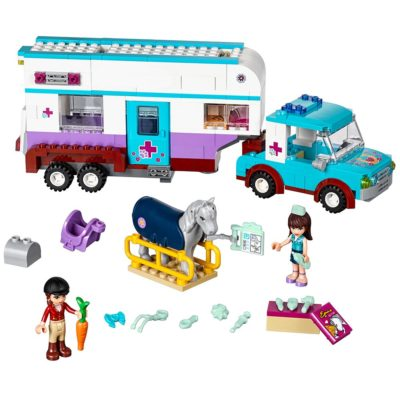 This is an image of a Horse Vet vehicle building set by LEGO.