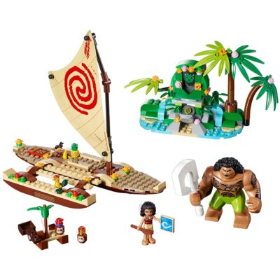 This is an image of a Moana's ocean voyager building set by LEGO.