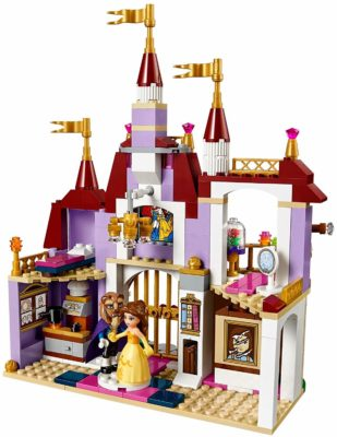 This is an image of a Princess Belle's Castle building set for girls by LEGO.