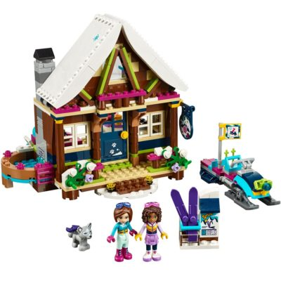 This is an image of a Friends Snow Resort Chalet building set by LEGO.