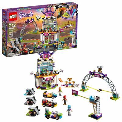 This is an image of a Friends The Big Race Day building set by LEGO.