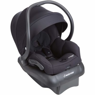 This is an image of a night black Mico 30 car seat by Maxi Cosi.
