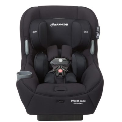 This is an image of a night black Pria 85 Max car seat by Maxi Cosi.