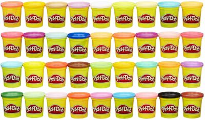 This is an image of a 36 piece assorted colors modeling compound by Play-Doh.